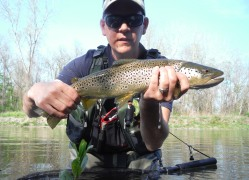 "20"" Brown that took a caddis emerger"